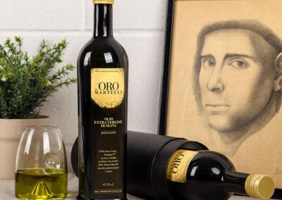 Olio Evo Bio Oro dei Martelli, bottiglia 75 cl con confezione a tubo